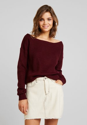 OPHELITA OFF SHOULDER JUMPER - Trui - wine