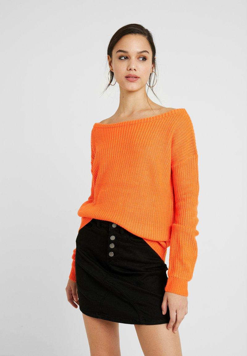 Missguided - OPHELITA OFF SHOULDER JUMPER - Sweter - orange