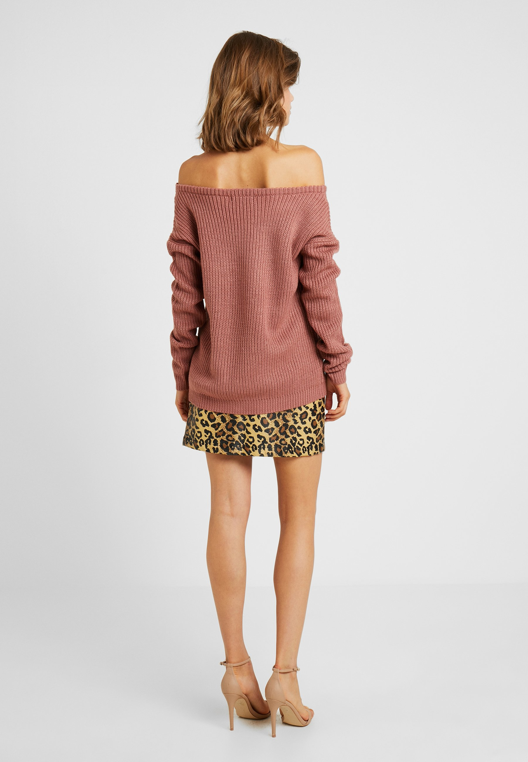 Missguided Ophelita JumperPullover Off Shoulder Rose HW9ED2I