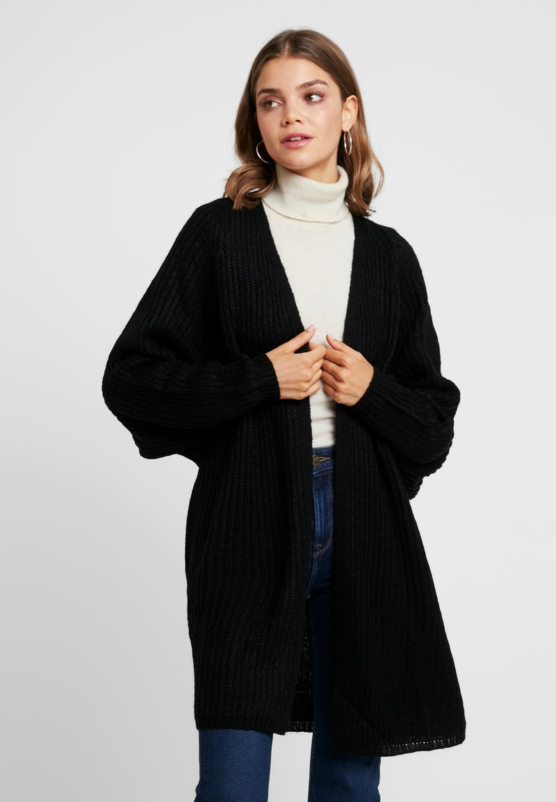 Missguided - OVERSIZED BATWING CARDIGAN - Strickjacke - black