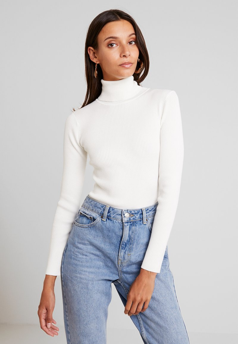 Missguided - ROLL NECK BODY - Strickpullover - off white