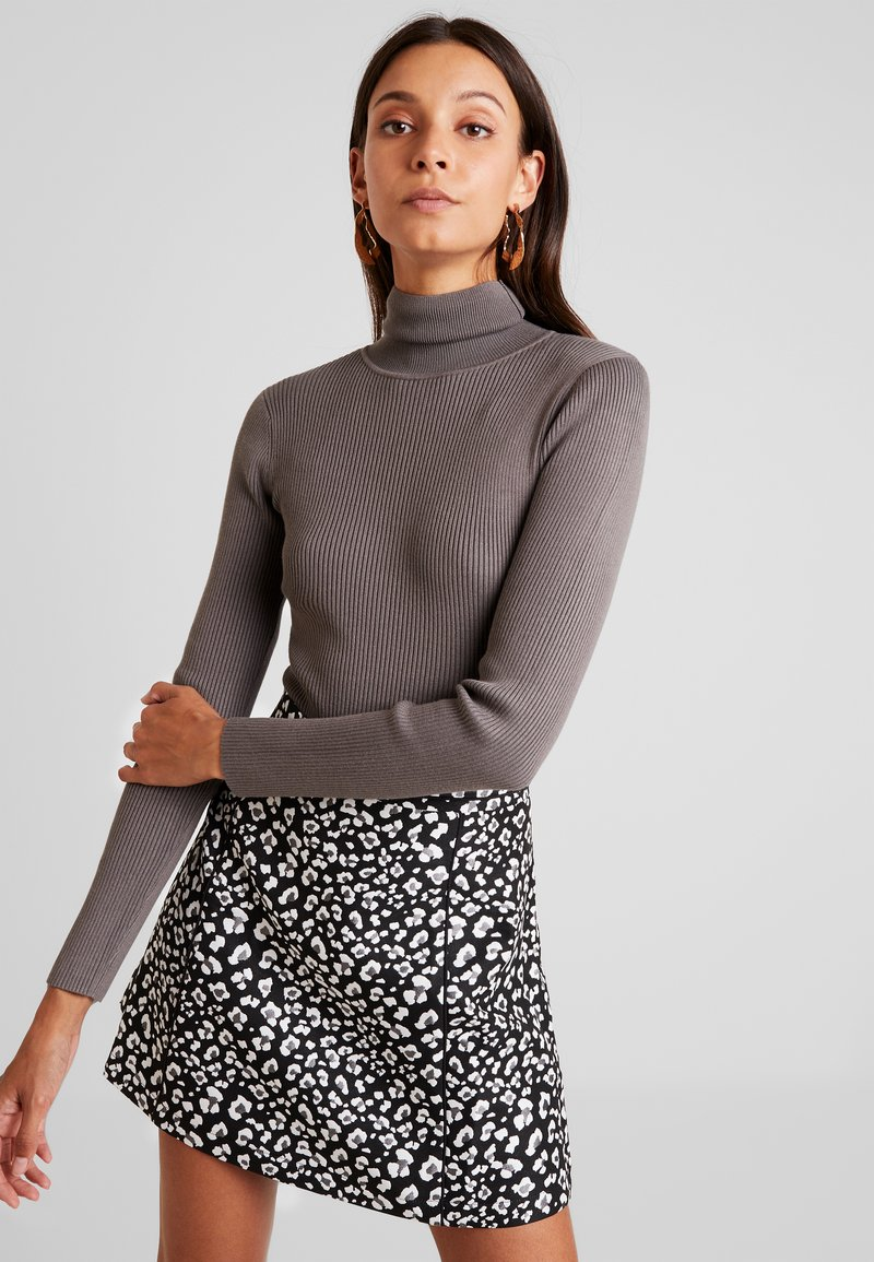 Missguided - ROLL NECK BODY - Jumper - charcoal