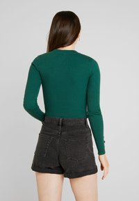 Missguided - BUTTON CUFF CREW NECK BODY - Svetr - forest green - 2