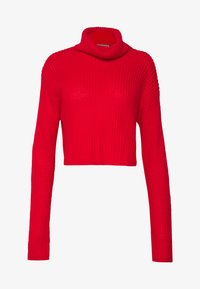 Missguided - ROLL NECK CROP JUMPER - Pullover - red - 4