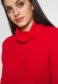 Missguided - ROLL NECK CROP JUMPER - Pullover - red - 5