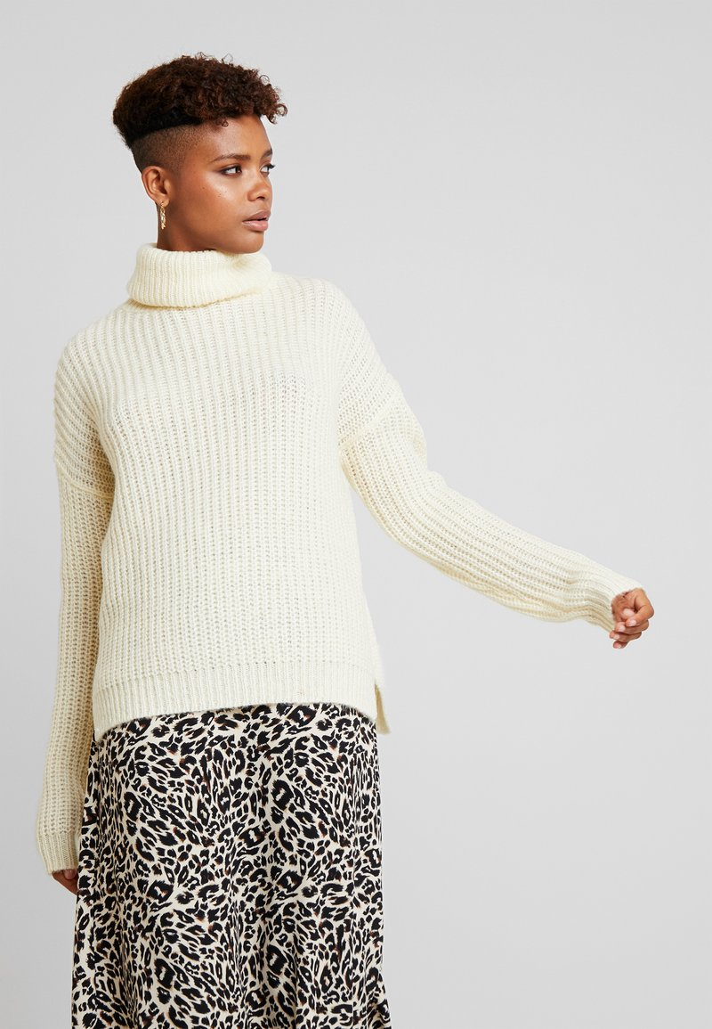 Missguided - ROLL NECK JUMPER - Pullover - winter white