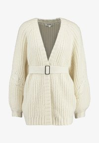 Missguided - CHUNKY CABLE BELTED CARDIGAN - Cardigan - cream - 4