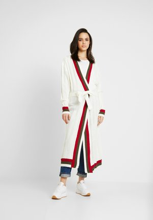 LONGLINE BELTED CRICKET CARDIGAN - Cardigan - cream