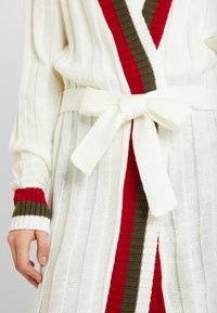 Missguided - LONGLINE BELTED CRICKET CARDIGAN - Gilet - cream - 5