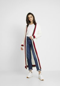 Missguided - LONGLINE BELTED CRICKET CARDIGAN - Gilet - cream - 1