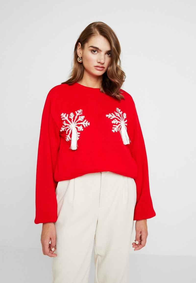 Missguided - SNOWFLAKE JUMPER CHRISTMAS - Jumper - red