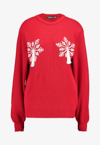 Missguided - SNOWFLAKE JUMPER CHRISTMAS - Jumper - red - 3