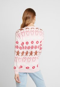 Missguided - CHRISTMAS GINGERBREAD MAN JUMPER - Jumper - pink - 2