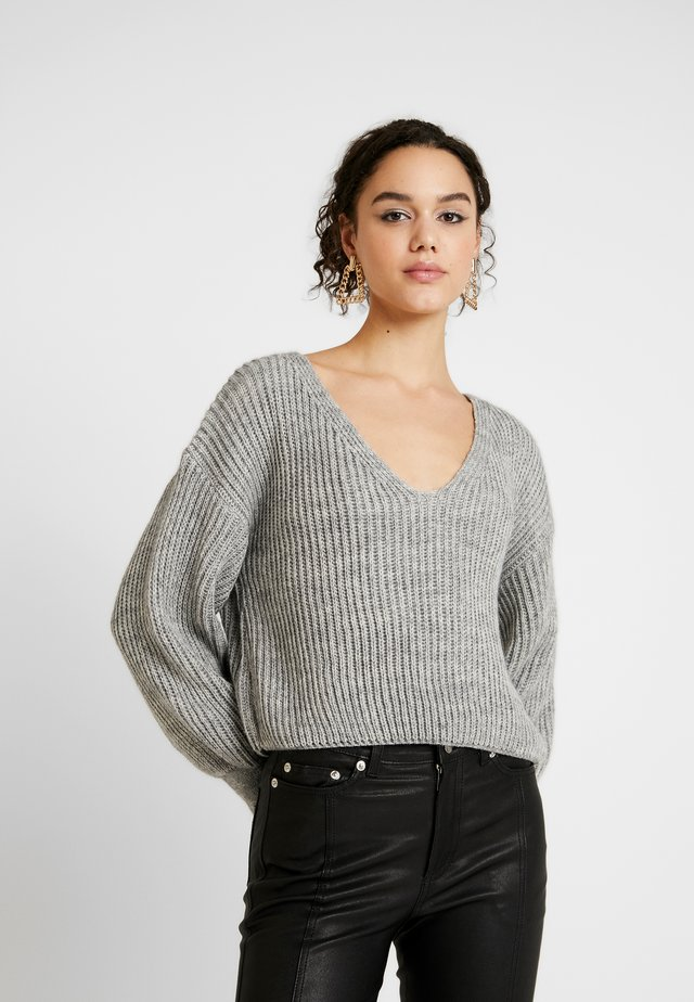 NECK OVERSIZED SLOUCH JUMPER - Jersey de punto - grey