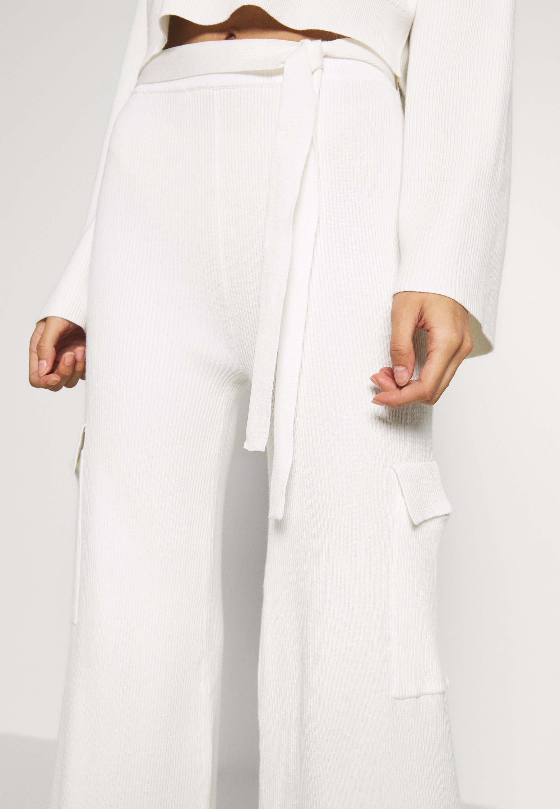 Missguided SET TOP AND TROUSERS - Trui - white