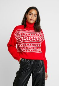 Missguided - CHRISTMAS FAIRISLE JUMPER - Jumper - red - 0
