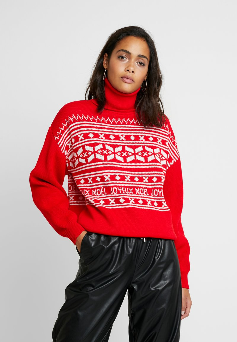 Missguided - CHRISTMAS FAIRISLE JUMPER - Jumper - red