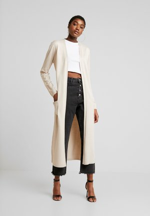 LONGLINE CARDIGAN WITH POCKETS  - Kardigan - sand
