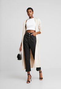 Missguided - LONGLINE CARDIGAN WITH POCKETS  - Cardigan - sand - 1
