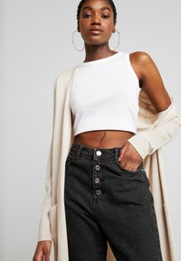Missguided - LONGLINE CARDIGAN WITH POCKETS  - Cardigan - sand - 3