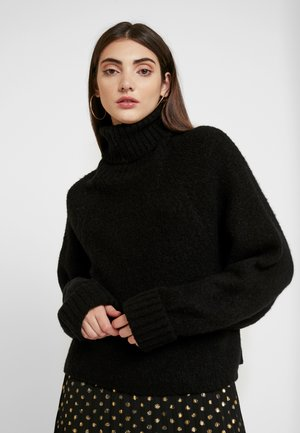 ROLL NECK BATWING JUMPER - Jumper - black