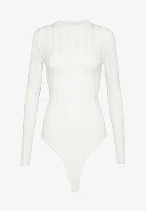 EXTREME CREW NECK BODYSUIT - Pullover - white