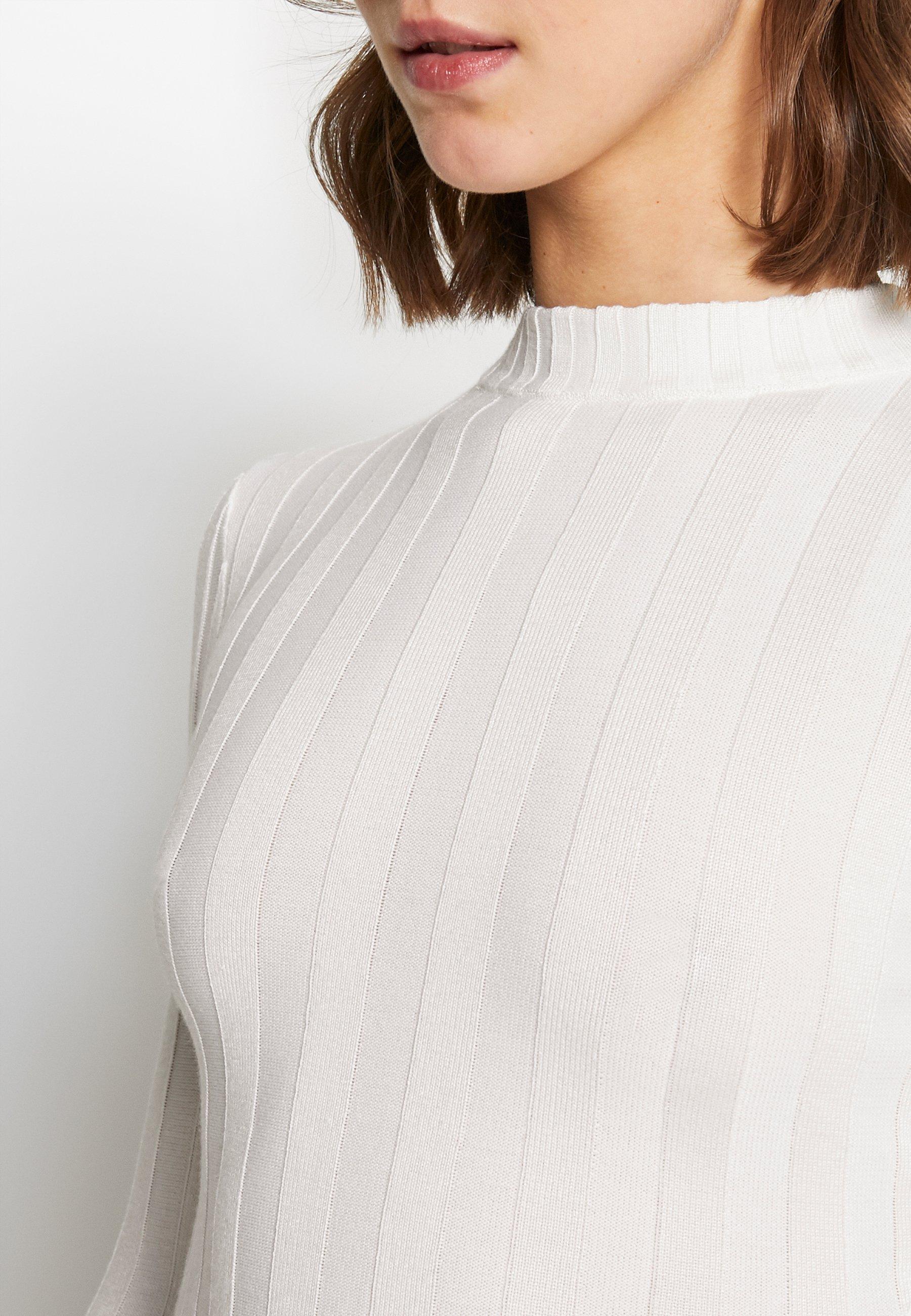Missguided EXTREME CREW NECK BODYSUIT - Strikkegenser - white
