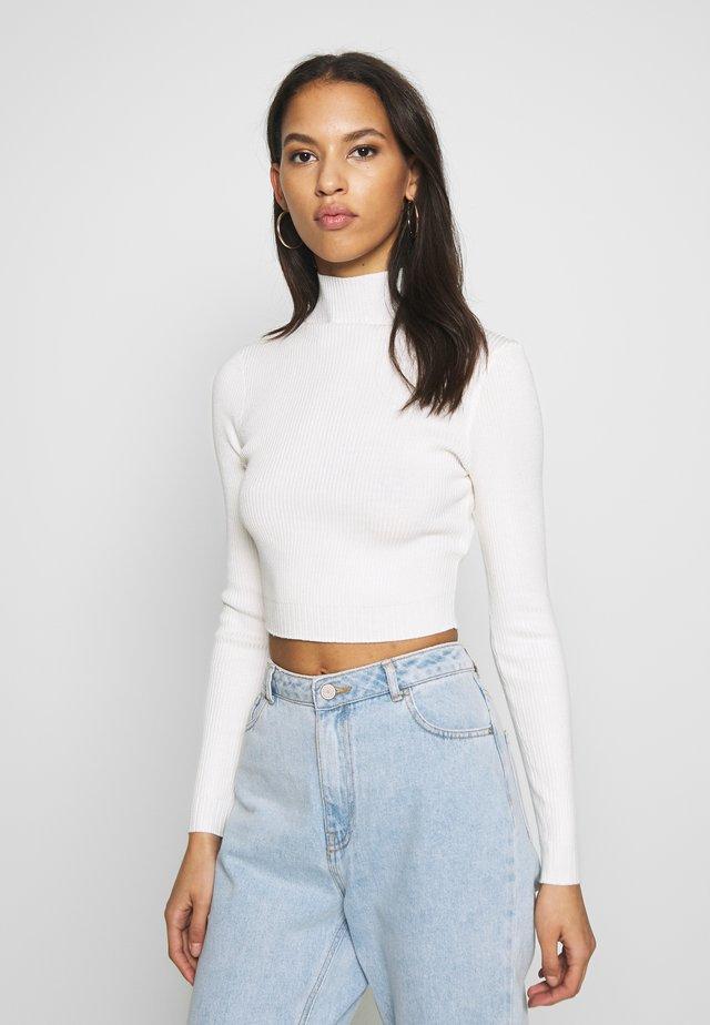 BASIC HIGH NECK - Jumper - white