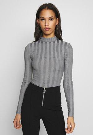 EXTREME CREW NECK BODYSUIT - Pullover - grey