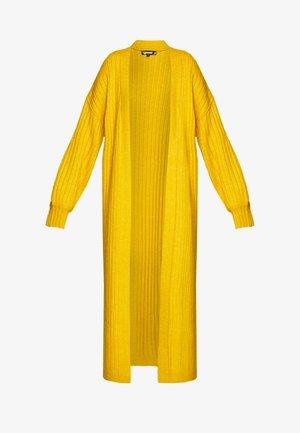 EXTREME BALLOON SLEEVE MAXI  - Cardigan - mustard