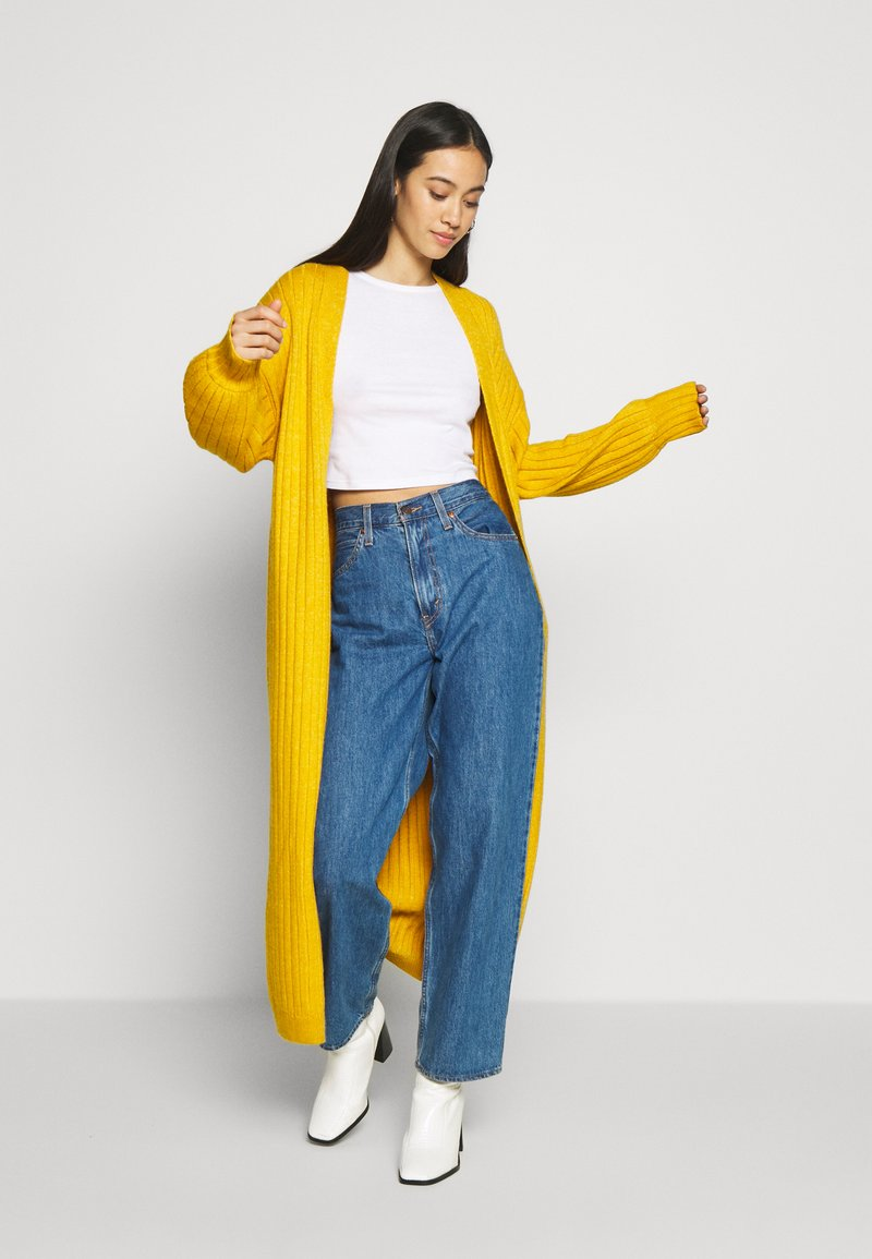 Missguided - EXTREME BALLOON SLEEVE MAXI  - Gilet - mustard