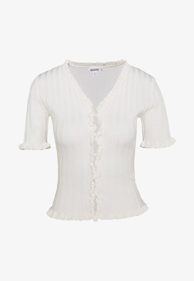 FRILL - T-shirt print - white