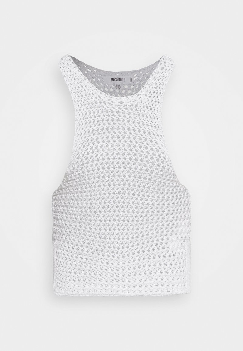 Missguided - CHUNKY RACER - Top - white