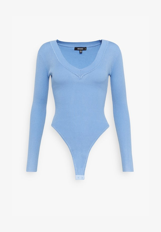 NECK BODY - Strickpullover - denim blue