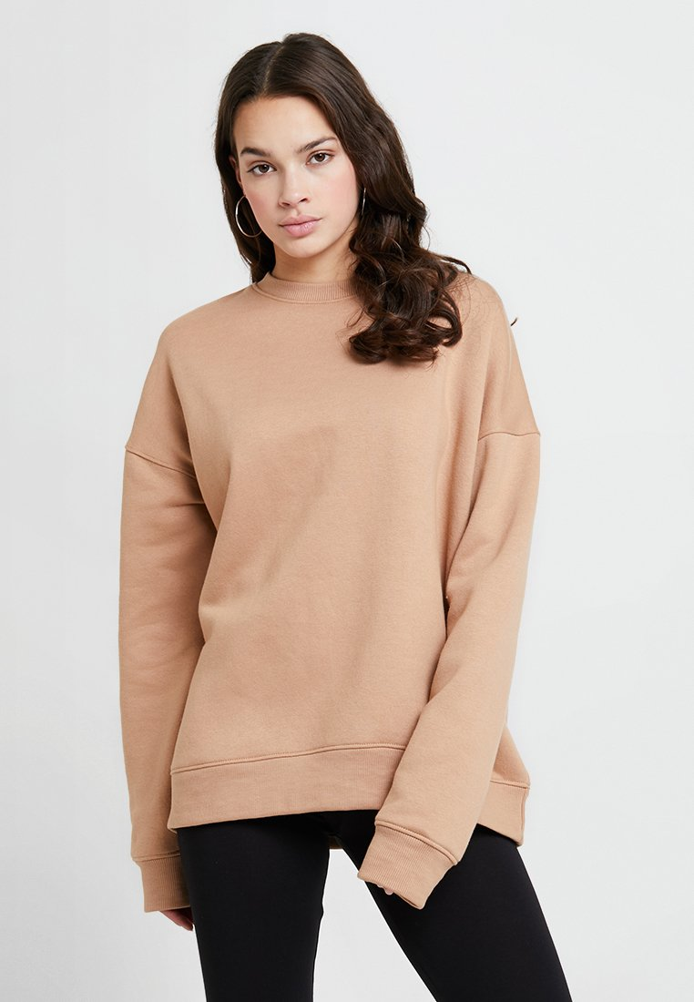 Missguided - OVERSIZED BRUSHBACK - Sweatshirt - camel