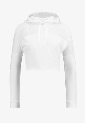 ACTIVE PANEL HOODIE - Bluza - white
