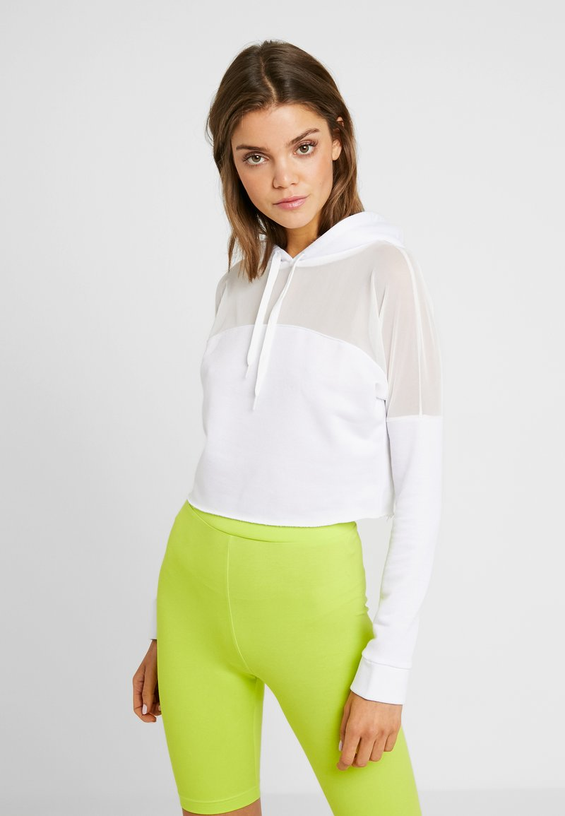 Missguided - ACTIVE PANEL HOODIE - Sudadera - white