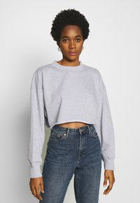 Missguided - CROPPED RAW HEM - Sweatshirt - grey - 0