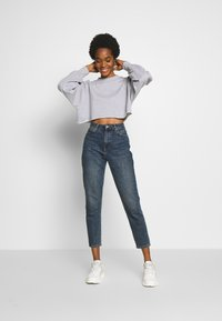 Missguided - CROPPED RAW HEM - Sweatshirt - grey - 1