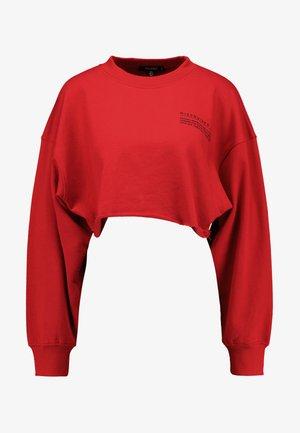 CROPPED RAW HEM - Sweatshirt - red