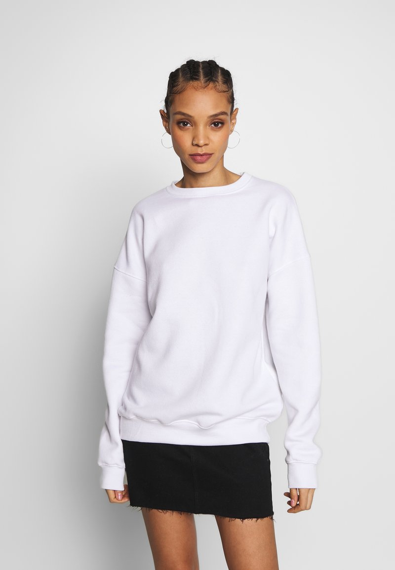 Missguided - BASIC OVERSIZED SWEAT - Sweatshirt - white