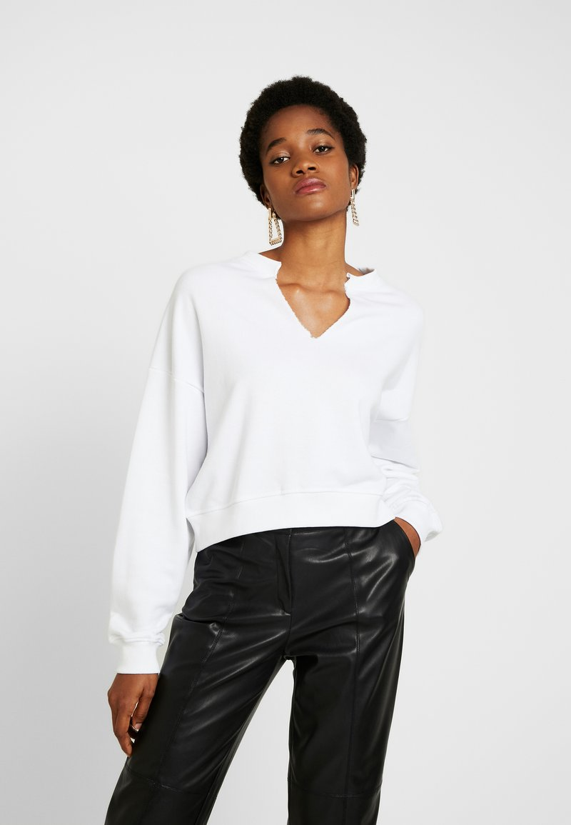 Missguided - FRONT SWEAT - Sudadera - white