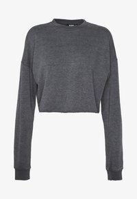 Missguided - WASHED LOOPBACK CROP - Sweatshirt - charcoal - 4