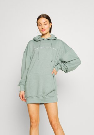 RENAISSANCE EMBROIDERED SLOGAN OVERSIZED HOODIE DRESS - Kjole - blue