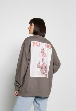 PLAYBOY GIRL MAGAZINE GRAPHIC LOUNGE - Sweatshirt - grey