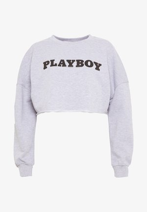 PLAYBOY LONG SLEEVE LOUNGE - Mikina - grey
