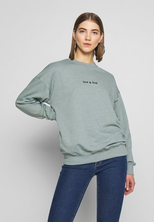 LOVE IS LOVE - Sweatshirt - mint