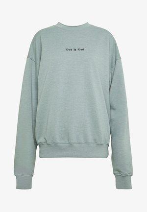 LOVE IS LOVE - Sweatshirt - mint