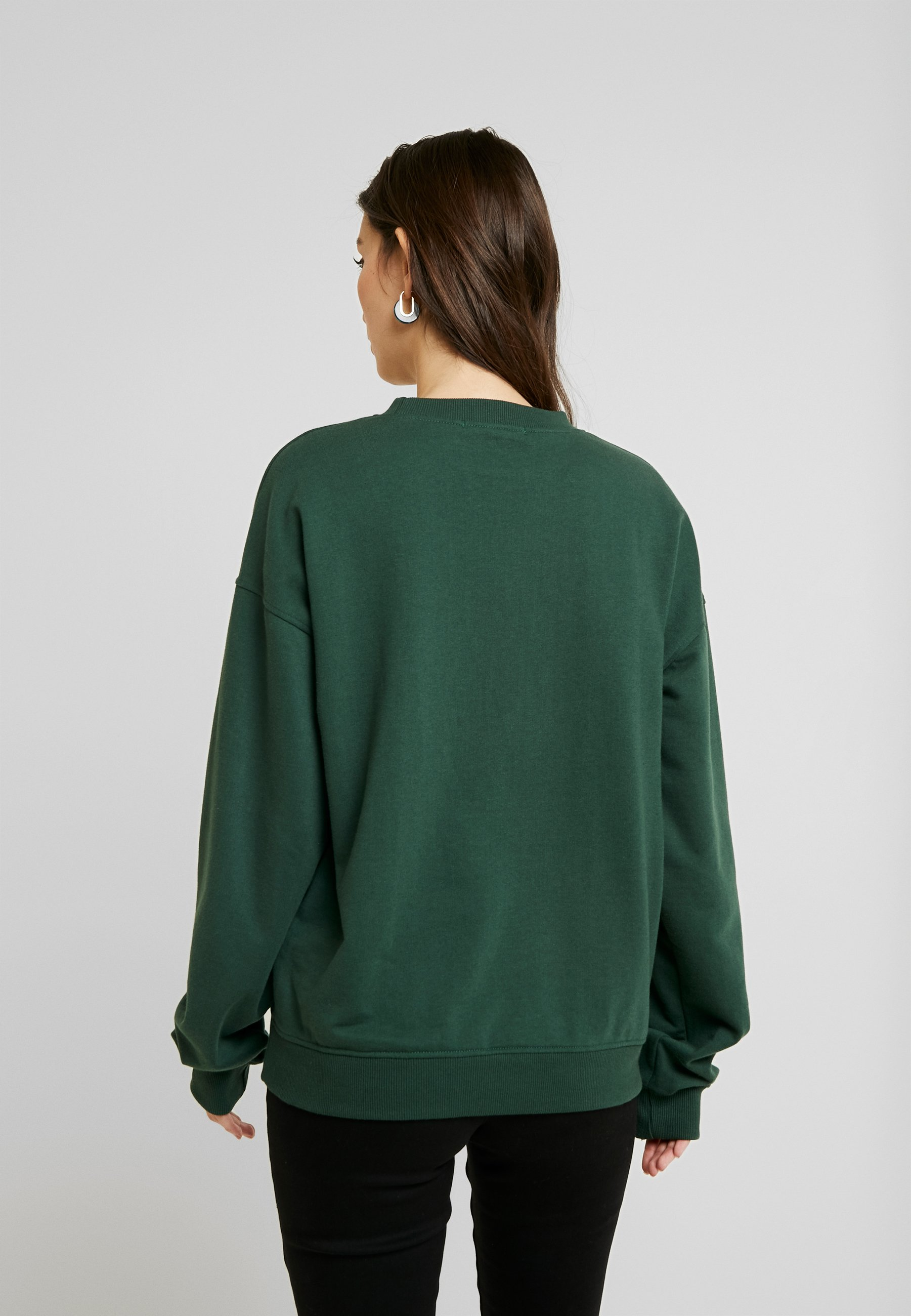 Missguided EMBROIDERED - Sweatshirt - green