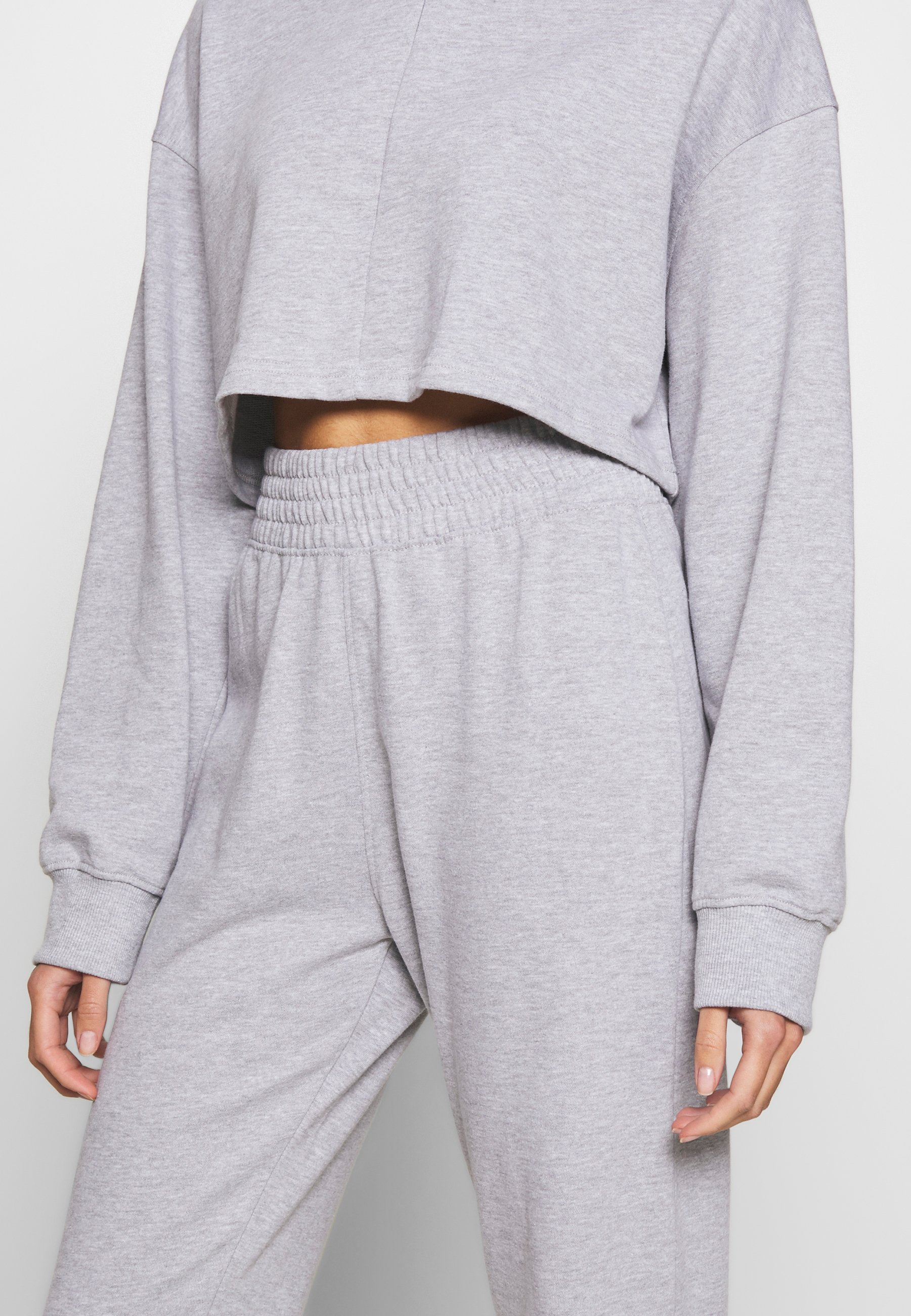 Missguided Zip Front Cropped Slim Line Set - Trainingsanzug Grey